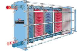 This exploded view of a plate heat exchanger shows the intricacies of the device and how maintaining it can be costly and time consuming if you wait for the reactive approach.