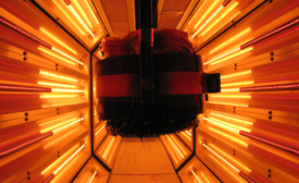 Liquid and powder coated parts can be cured effectively using an infrared oven.