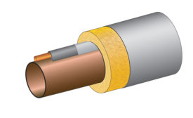 Preformed, flexible heat transfer compound straight piping runs