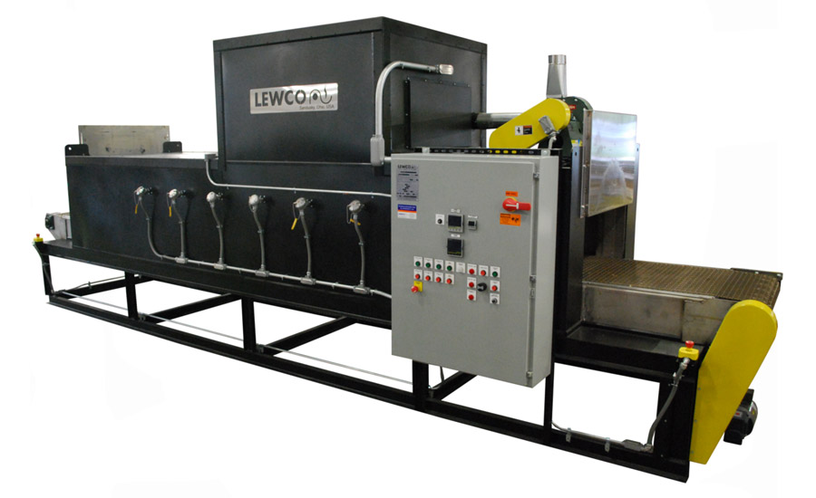 Lewco Conveyor Oven Cures Coating on Electrodes