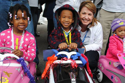 Preschoolers Read to Ride at Spirax Sarcoâ??s Pedal Car Event