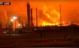 ExxonMobil refinery fire Baton Rouge LA