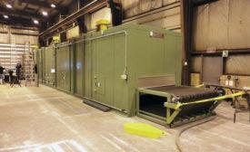 wisconsin oven Conveyor Oven Dries Paper Pulp Material