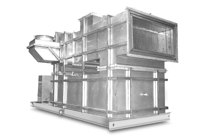 Indirect gas-fired heater for industrial processes with high temperature rises