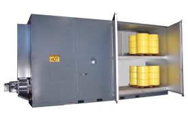 Drum/Tote Oven Safely Heats Flammable Materials