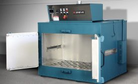Vertical Airflow Cabinet Oven Allows Pass-Through Processing