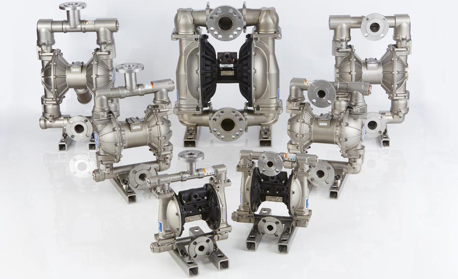 Stainless Steel Flange Connections on Air-Operated Double-Diaphragm Pumps