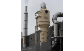 Scrubber designed to provide efficient gas absorption and particulate collection from Bionomic Industries.