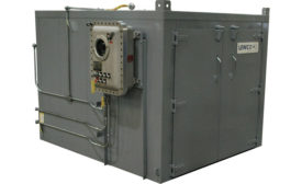 Steam-heated drum and tote oven from Lewco Inc.