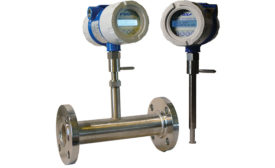 Thermal mass flow meter with datalogging from Fox Thermal Instruments.