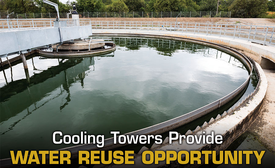 Cooling towers can use reclaimed water