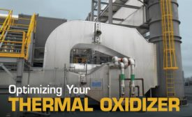 A heat recovery system on a regenerative thermal oxidizer is used in animal feed production.