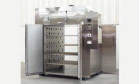 Floor-Level Cabinet Oven Cures Flat Urethane Sheets
