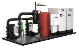 Preengineered, skid-mounted boilers from Cleaver-Brooks.
