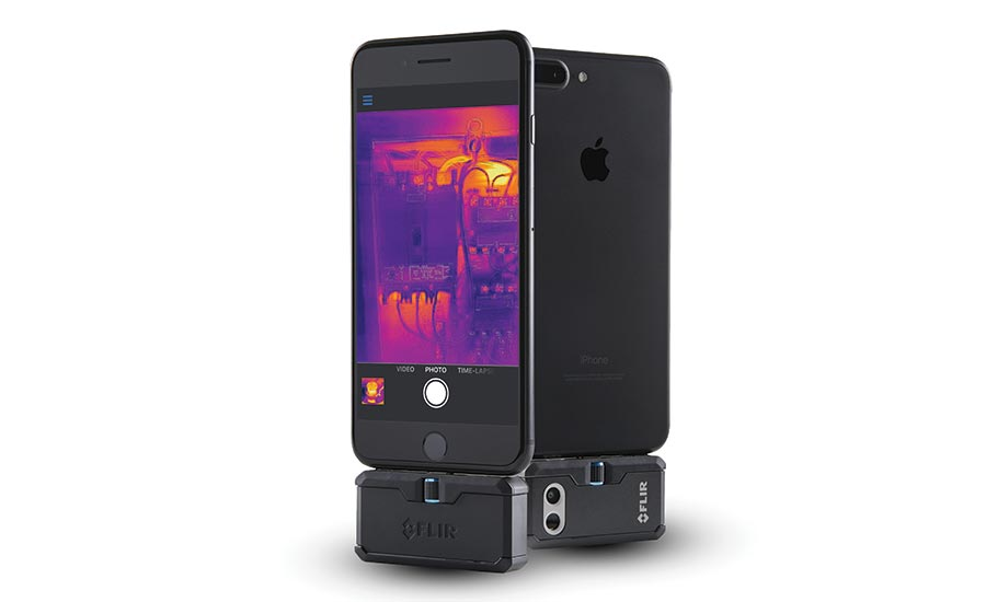Convert a smartphone or tablet to a thermal imaging camera with Flir Systems, Inc.