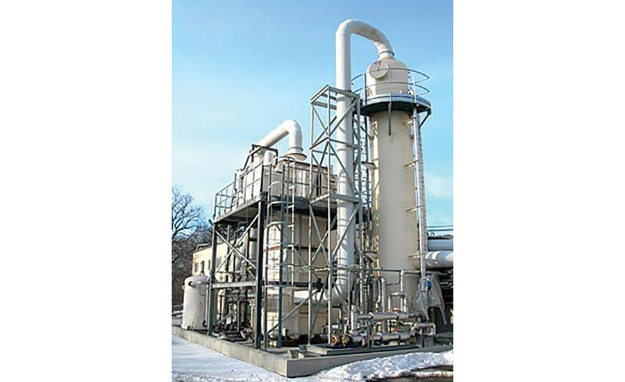 Packed Tower Scrubbers Suited for Gaseous Contaminant, Odor Reduction
