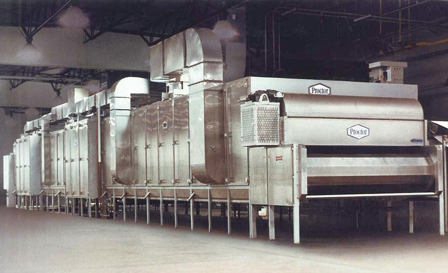 Continuous drying systems