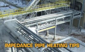 Impedance pipe heating
