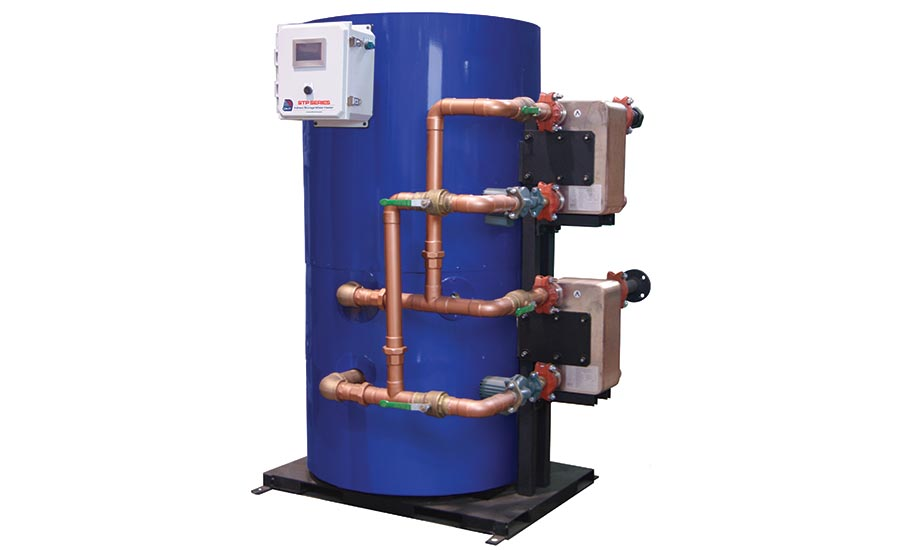 Packaged storage water heater from Diversified Heat Transfer Inc.