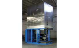 Gas-fired vertical conveyor oven from Grieve Corp.