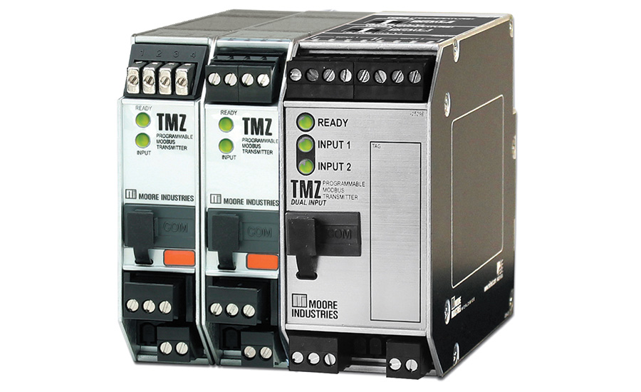 Modbus transmitter with dual universal inputs from Moore Industries-International Inc.