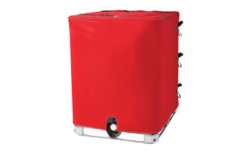 IBC/Tote tank immersion heaters and insulators from Briskheat Corp.
