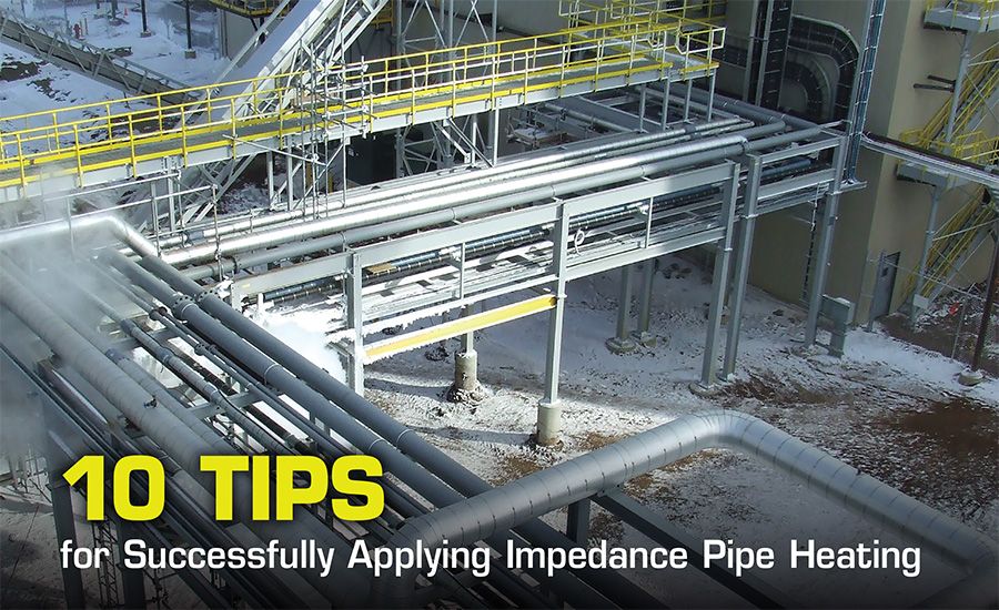 Impedance pipe heating systems