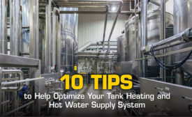 tank heating hot water supply system