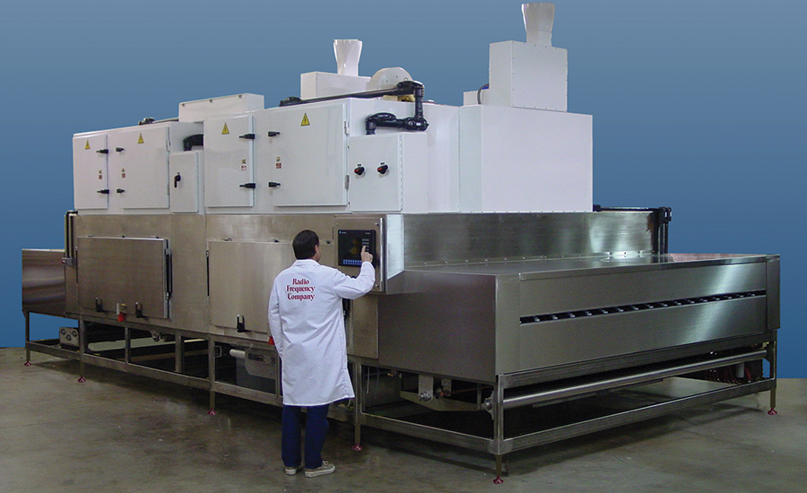 Hybridized Radio Frequency/Convection Web Drying System