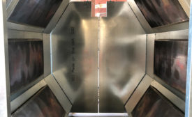 PH June 2021 CIS: Retrofitting Convection Oven Phase 2 Interior View. Image provided by Catalytic Industrial Systems