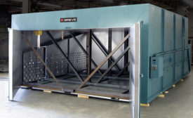 electrically heated walk-in batch oven
